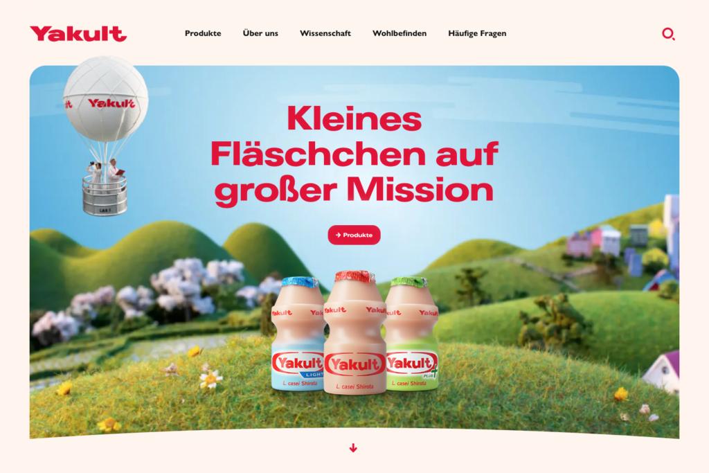 Yakult.de homepage